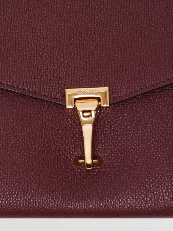 Small Leather Crossbody Bag in Mahogany Red - Women | Burberry United Kingdom - cell image 1