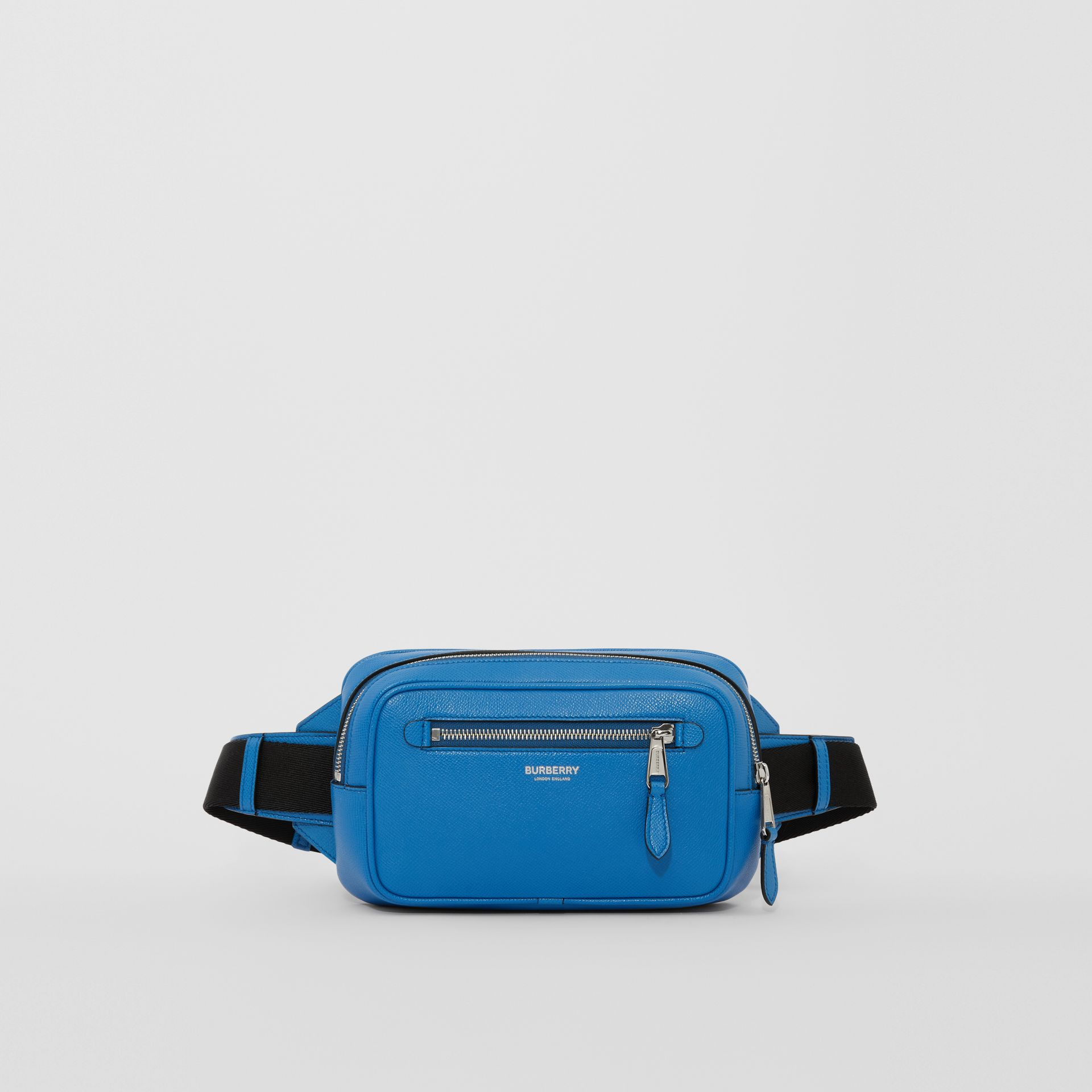 Grainy Leather Bum Bag in True Blue - Men | Burberry United States - gallery image 0
