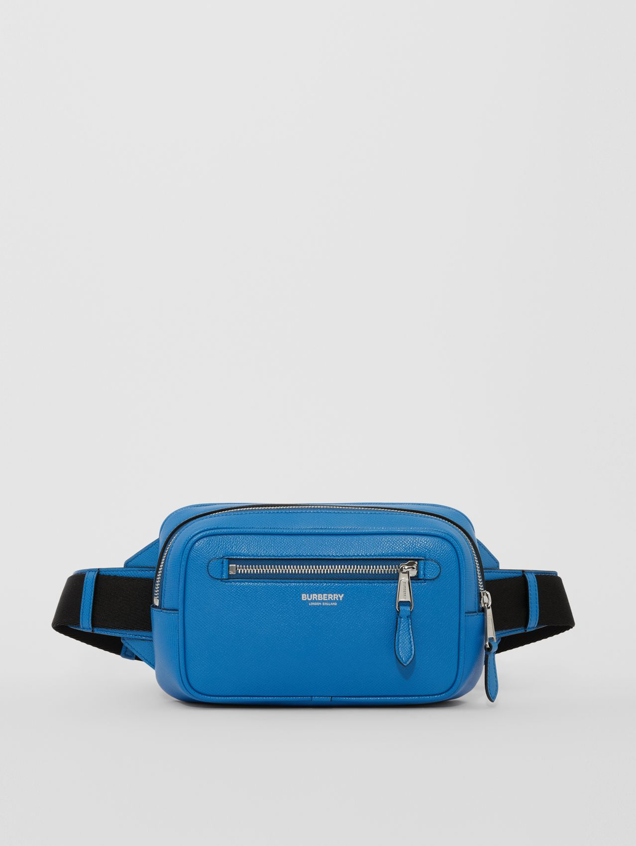 Grainy Leather Bum Bag in True Blue