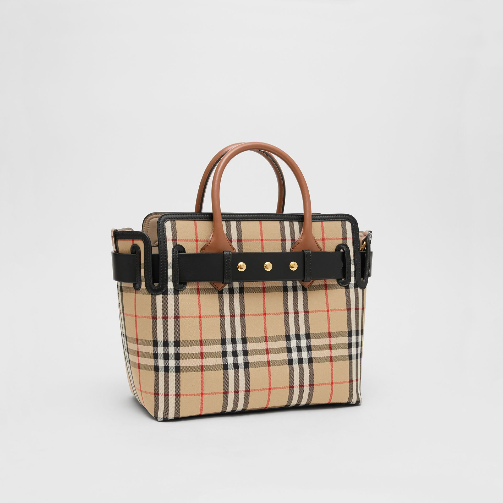 The Small Vintage Check Triple Stud Belt Bag in Archive Beige - Women | Burberry - gallery image 6