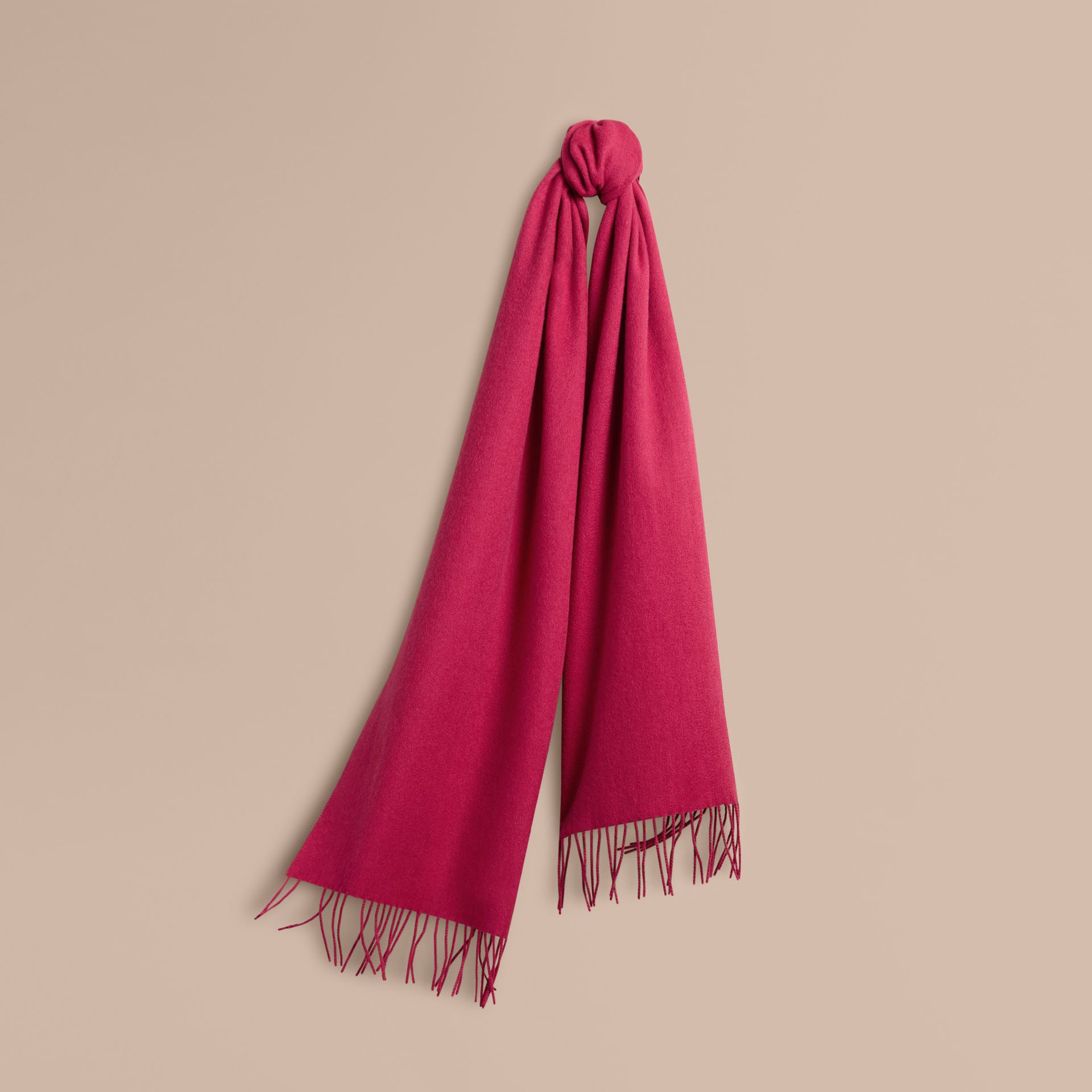 The Classic Cashmere Scarf in Fuchsia Pink | Burberry - gallery image 6