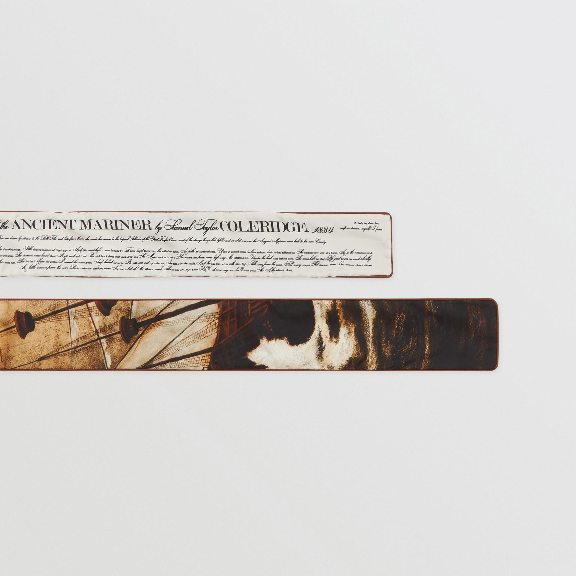 Mariner Print Silk Skinny Scarf in Brown | Burberry United States - gallery image 1