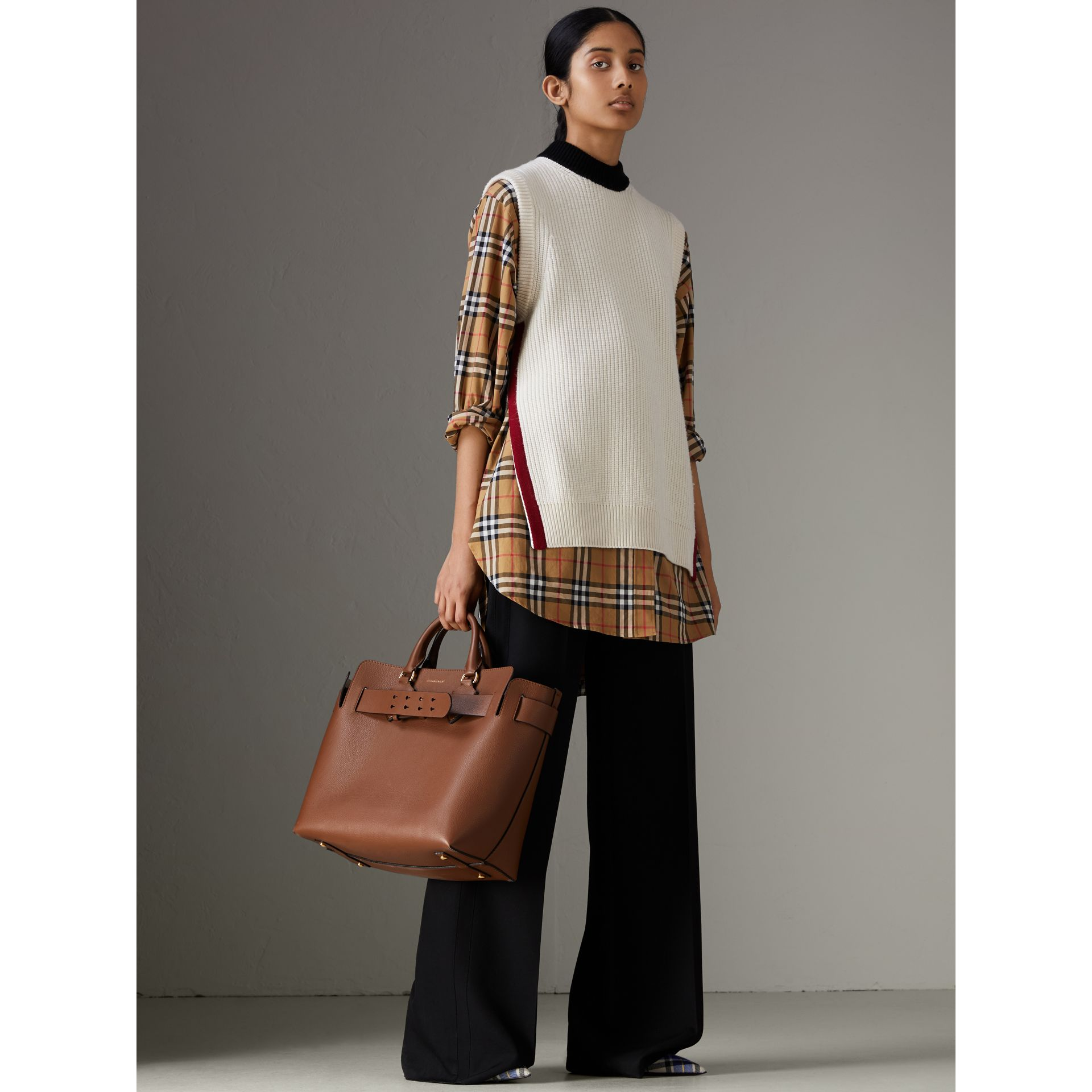 The Medium Leather Belt Bag in Tan - Women | Burberry Australia - gallery image 2