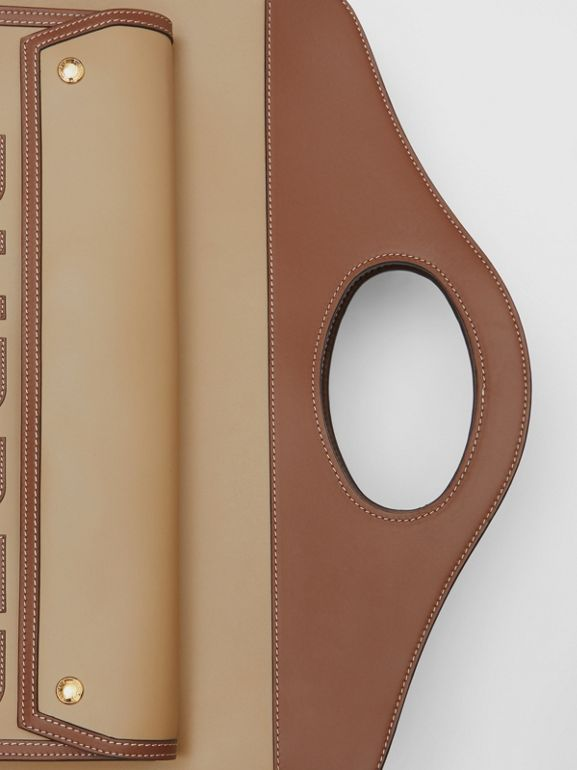 Extra Large Horseferry Appliqué Leather Pocket Bag in Honey - Women | Burberry United States - cell image 1