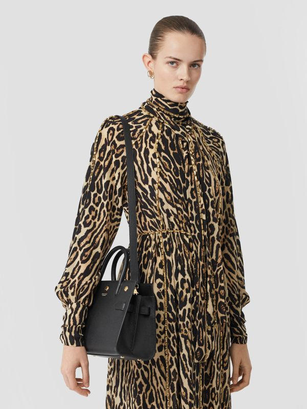 Mini Leather Two-handle Title Bag in Black - Women   Burberry United Kingdom - cell image 2