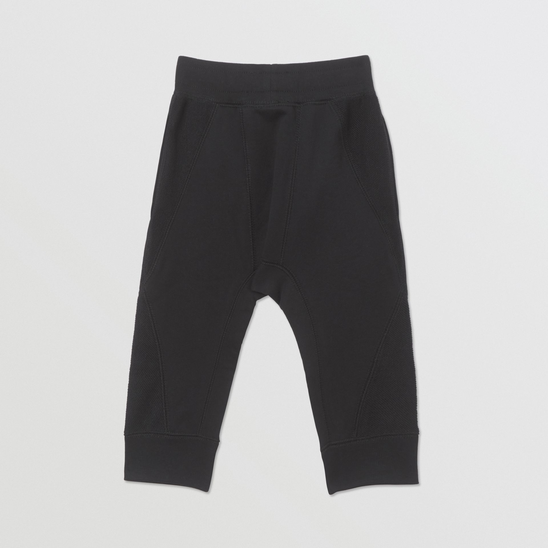 Logo Graphic Cotton Trackpants in Black - Children | Burberry Hong Kong S.A.R - gallery image 3