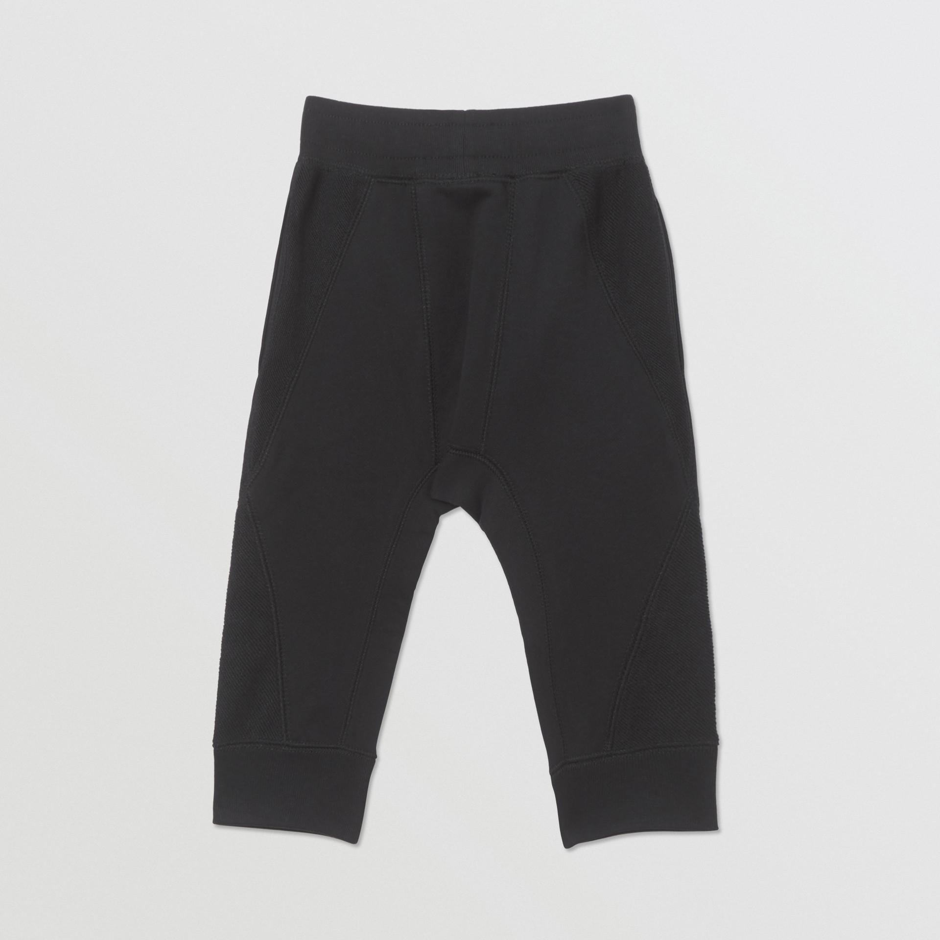 Pantalon de survêtement en coton à logo (Noir) - Enfant | Burberry - photo de la galerie 3