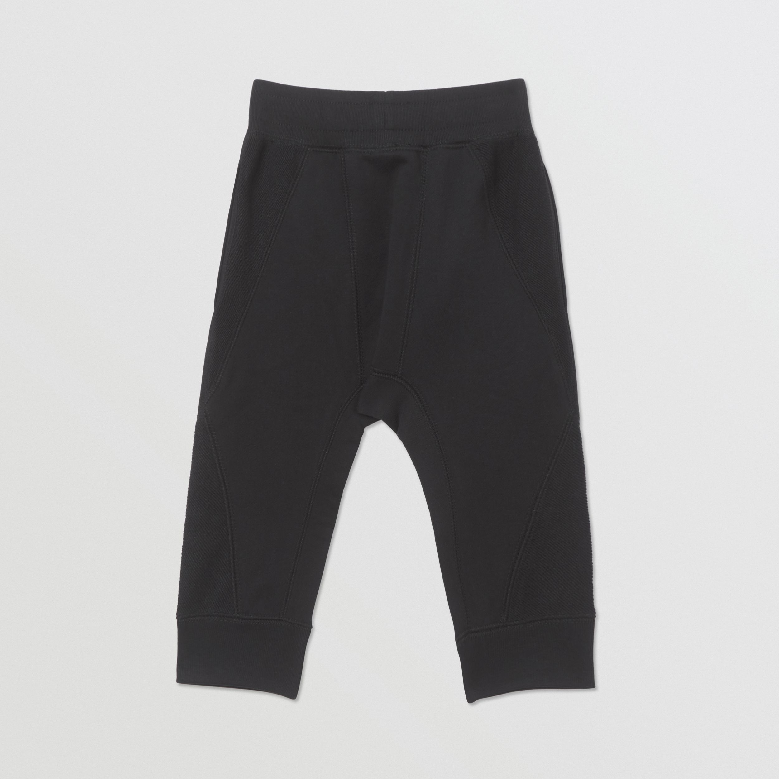 Logo Graphic Cotton Trackpants in Black - Children | Burberry - 4