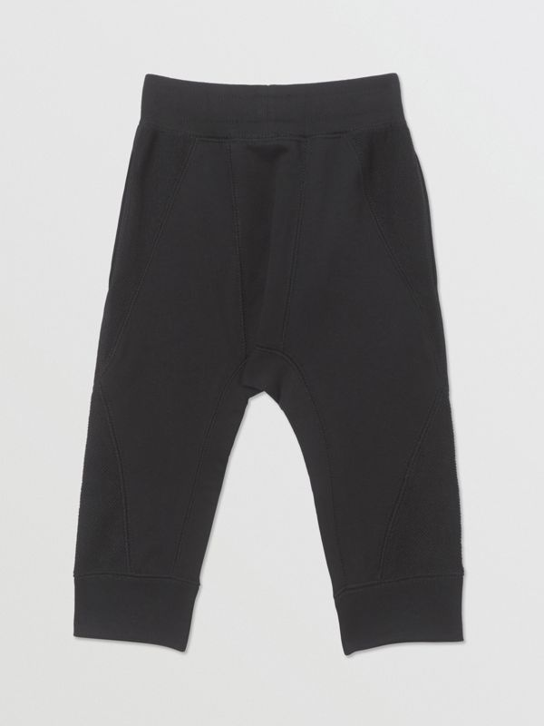 Logo Graphic Cotton Trackpants in Black - Children | Burberry United Kingdom - cell image 3