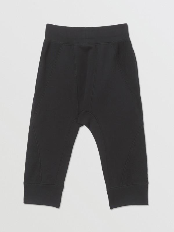 Pantalon de survêtement en coton à logo (Noir) - Enfant | Burberry - cell image 3