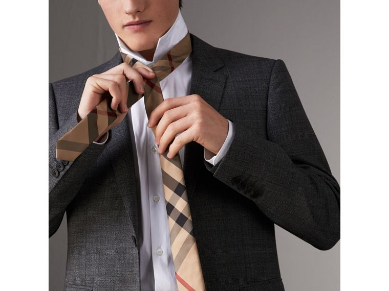 Modern Cut Check Silk Tie in Camel - Men | Burberry Singapore - cell image 2