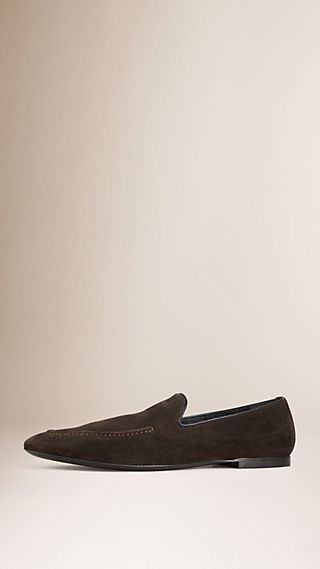 Whole-cut Suede Loafers