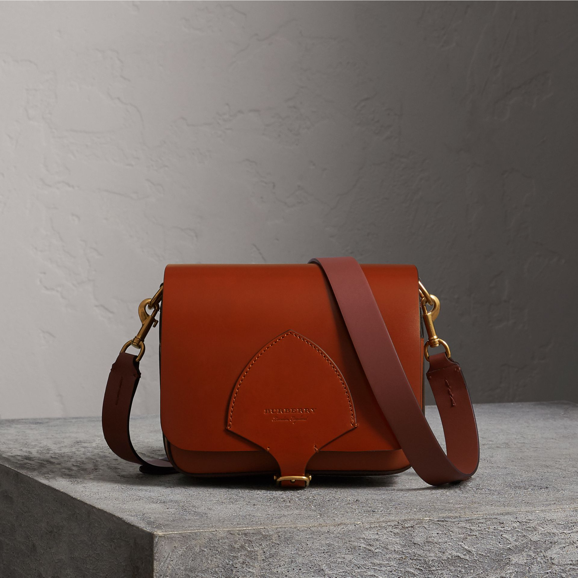 The Square Satchel in Bridle Leather in Tan - Women | Burberry - gallery image 0