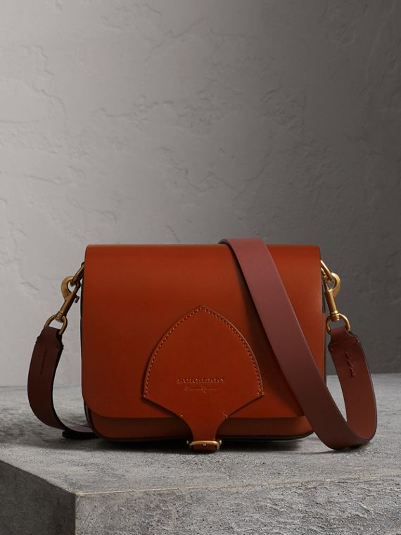 The Square Satchel in Bridle Leather in Tan