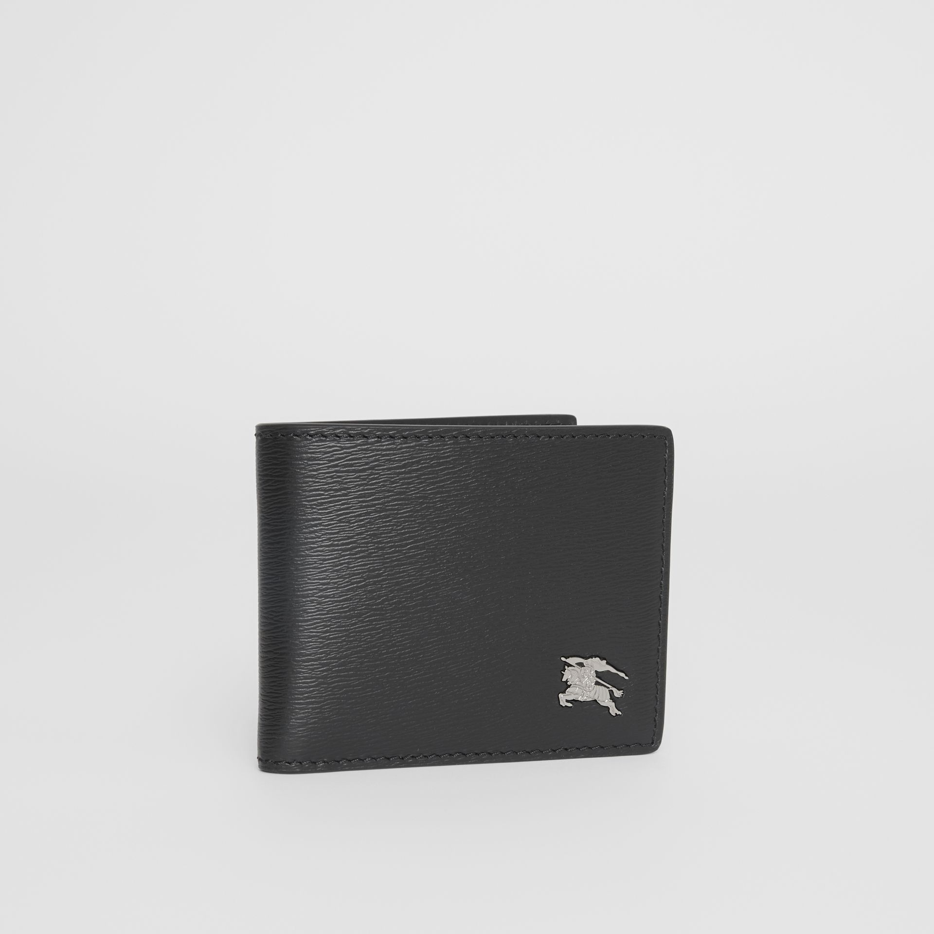 London Leather Bifold Wallet in Black - Men | Burberry United Kingdom - gallery image 3