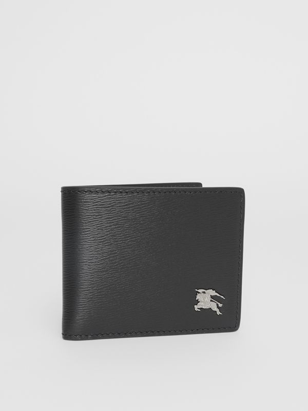London Leather Bifold Wallet in Black - Men | Burberry Australia - cell image 3