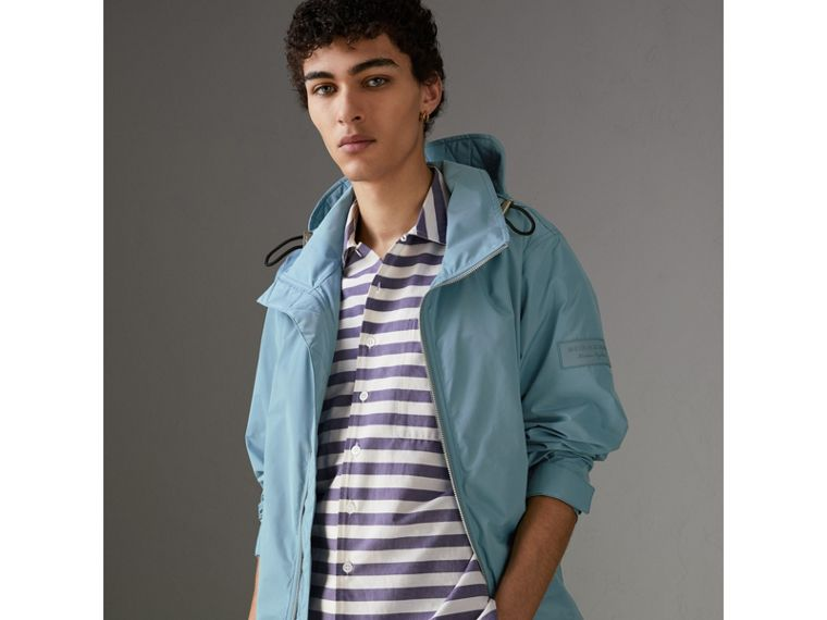 Packaway Hood Showerproof Jacket in Slate Blue - Men | Burberry - cell image 4