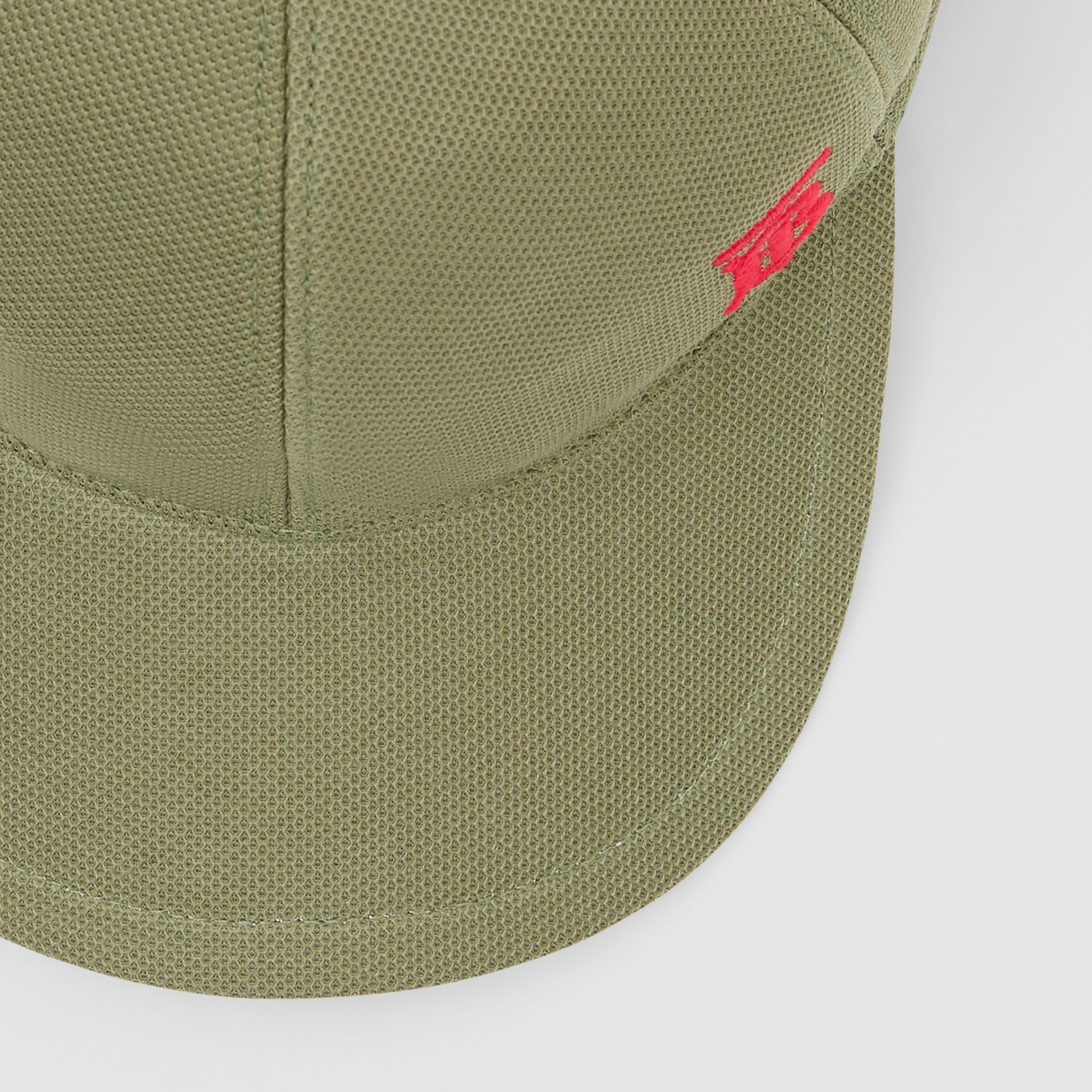 Monogram Motif Baseball Cap in Poplar Green | Burberry - gallery image 1