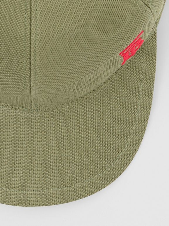 Monogram Motif Baseball Cap in Poplar Green | Burberry Australia - cell image 1