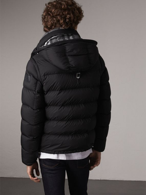 Detachable-sleeve Down-filled Puffer Jacket in Black - Men | Burberry - cell image 2