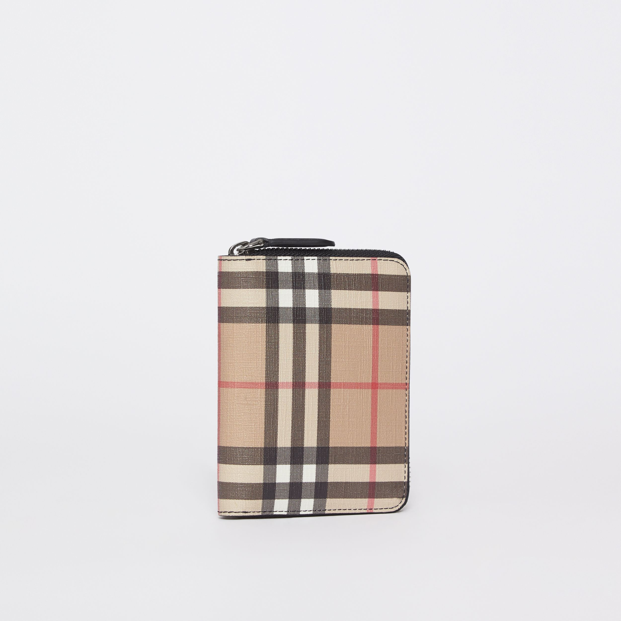 Vintage Check E-canvas Ziparound Wallet in Black - Women | Burberry - 4