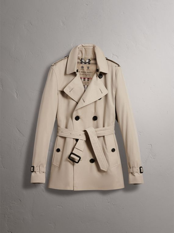 The Kensington – Short Heritage Trench Coat in Stone - Men | Burberry - cell image 3