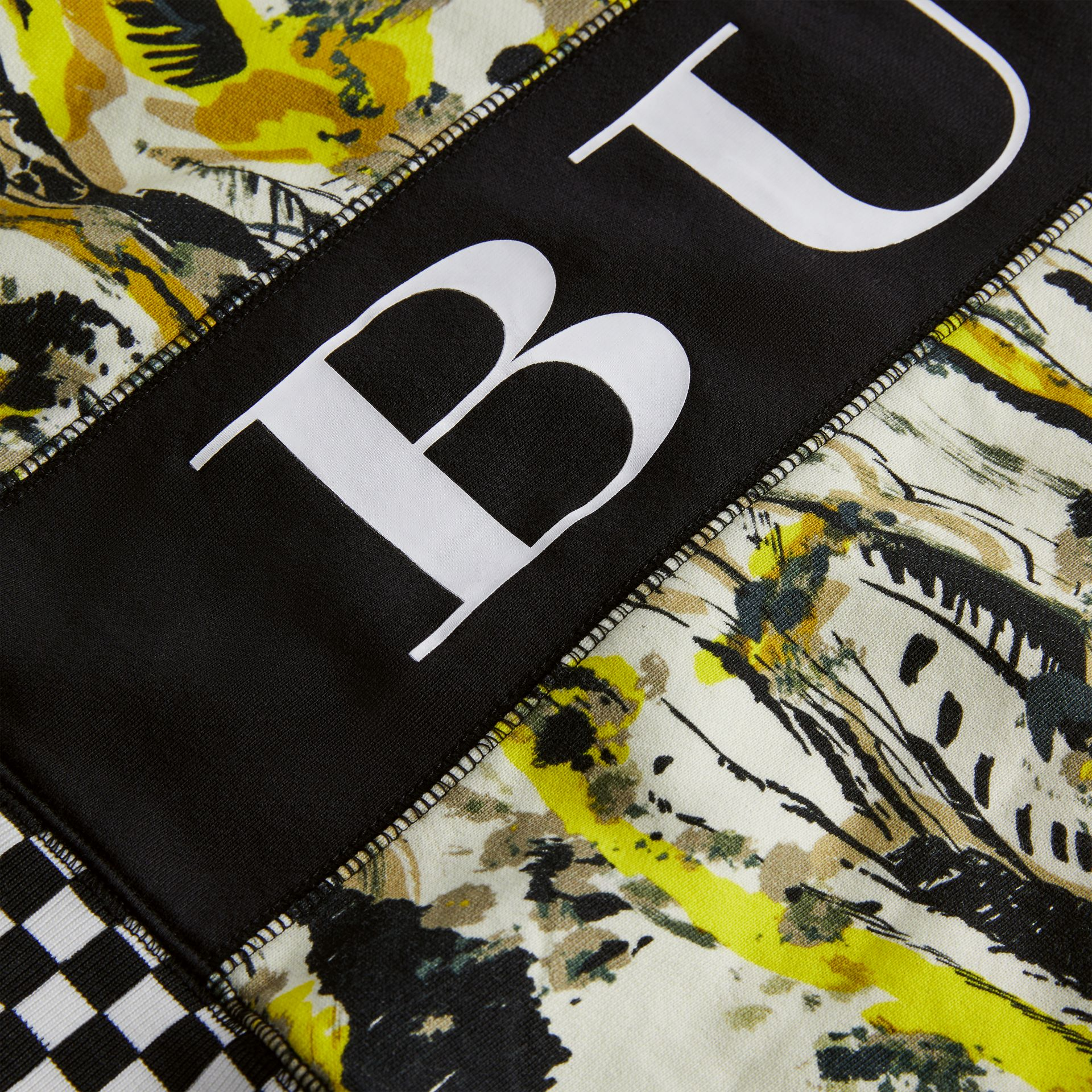 Graphic Print Cotton Hooded Top in Multicolour | Burberry - gallery image 1