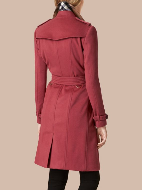 Dusty peony rose Sandringham Fit Cashmere Trench Coat Dusty Peony Rose - cell image 2