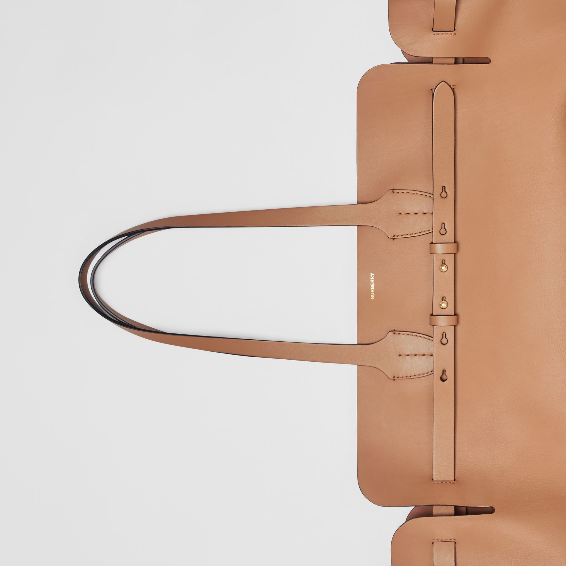 The Large Soft Leather Belt Bag in Light Camel - Women | Burberry United Kingdom - gallery image 1