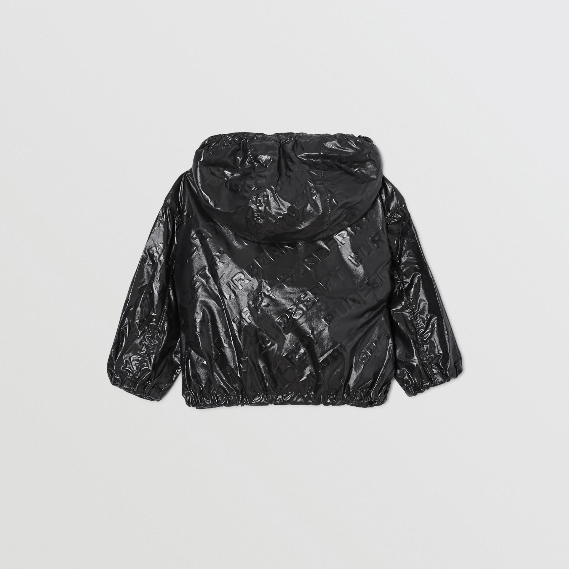 Logo Print Lightweight Hooded Jacket in Black - Children | Burberry United Kingdom - gallery image 4