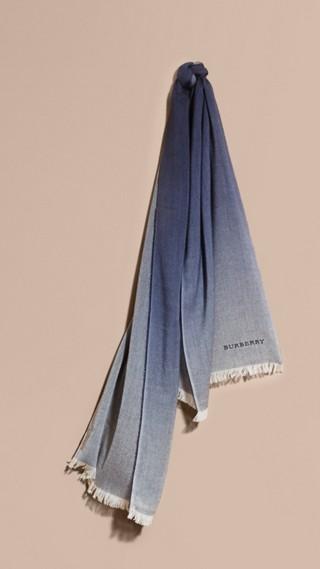 Écharpe légère en laine et cachemire à effet ombré