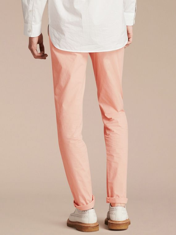 Slim Fit Cotton Poplin Chinos Apricot Pink - cell image 2