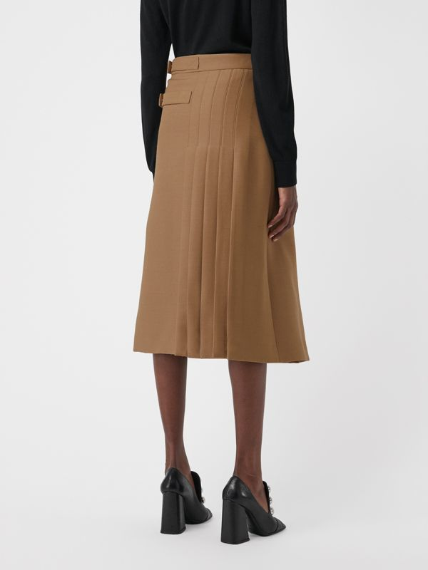 Kilt in lana e seta (Cammello) - Donna | Burberry - cell image 2