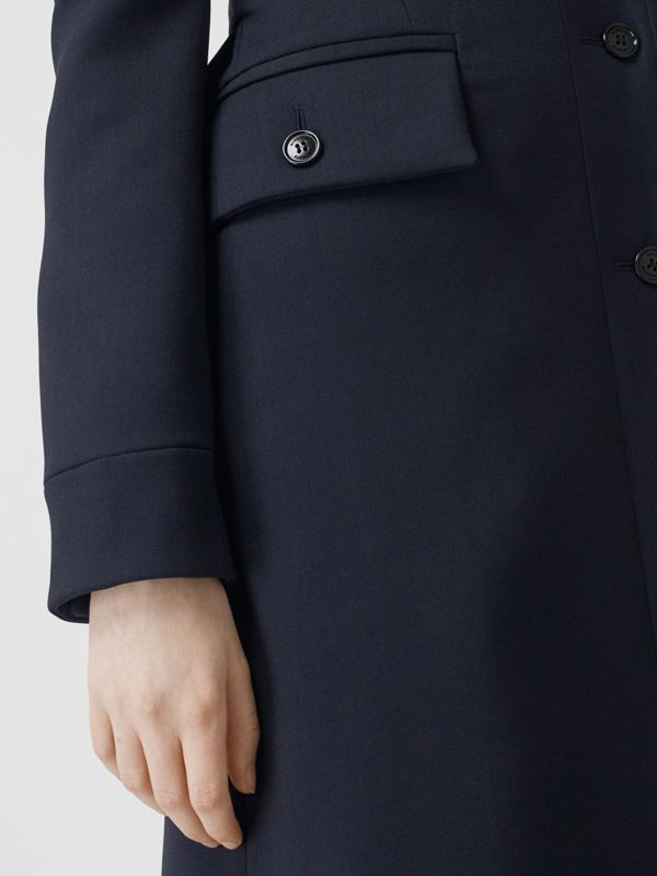 Double-faced Wool Cashmere Blend Coat in Navy - Women | Burberry - cell image 3