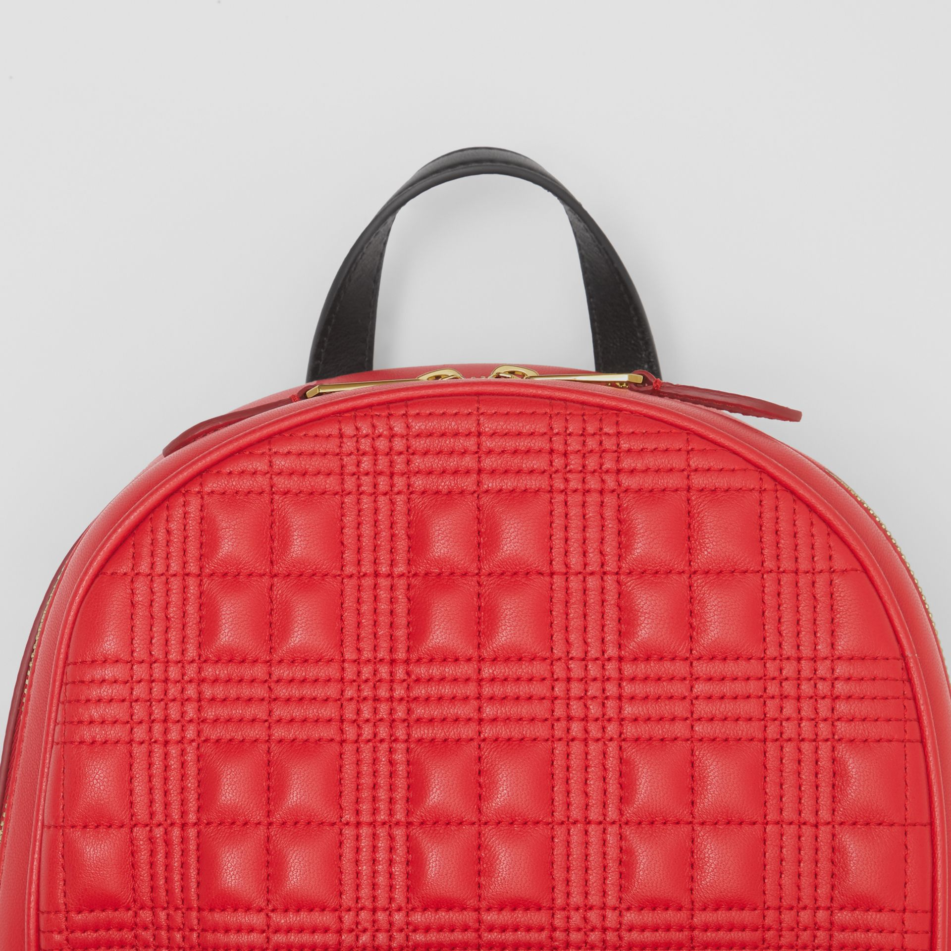 Quilted Lambskin Backpack in Bright Red | Burberry - gallery image 12