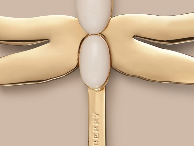 Light gold/off white Dragonfly Detail Hairslide - cell image 1