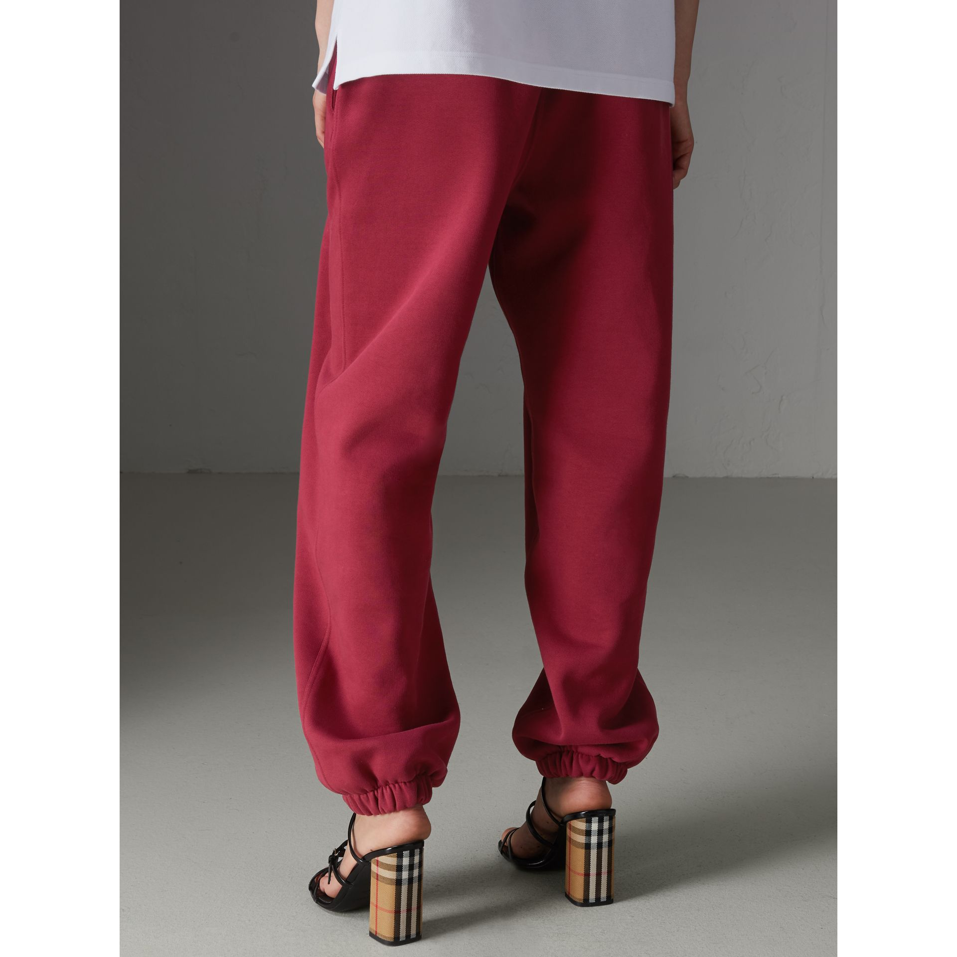Archive Logo Jersey Sweatpants in Light Burgundy - Women | Burberry - gallery image 2