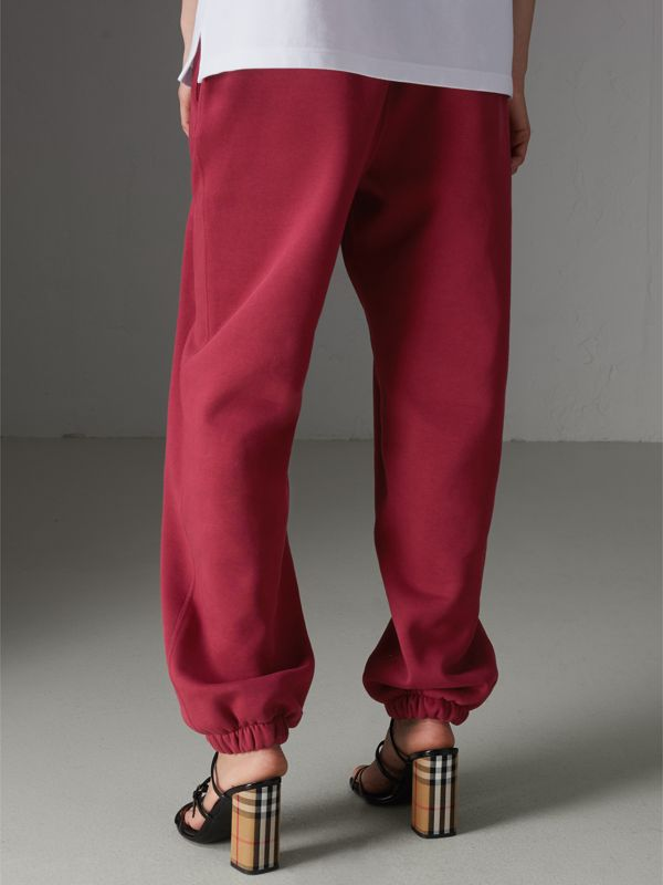Archive Logo Jersey Sweatpants in Light Burgundy - Women | Burberry United Kingdom - cell image 2