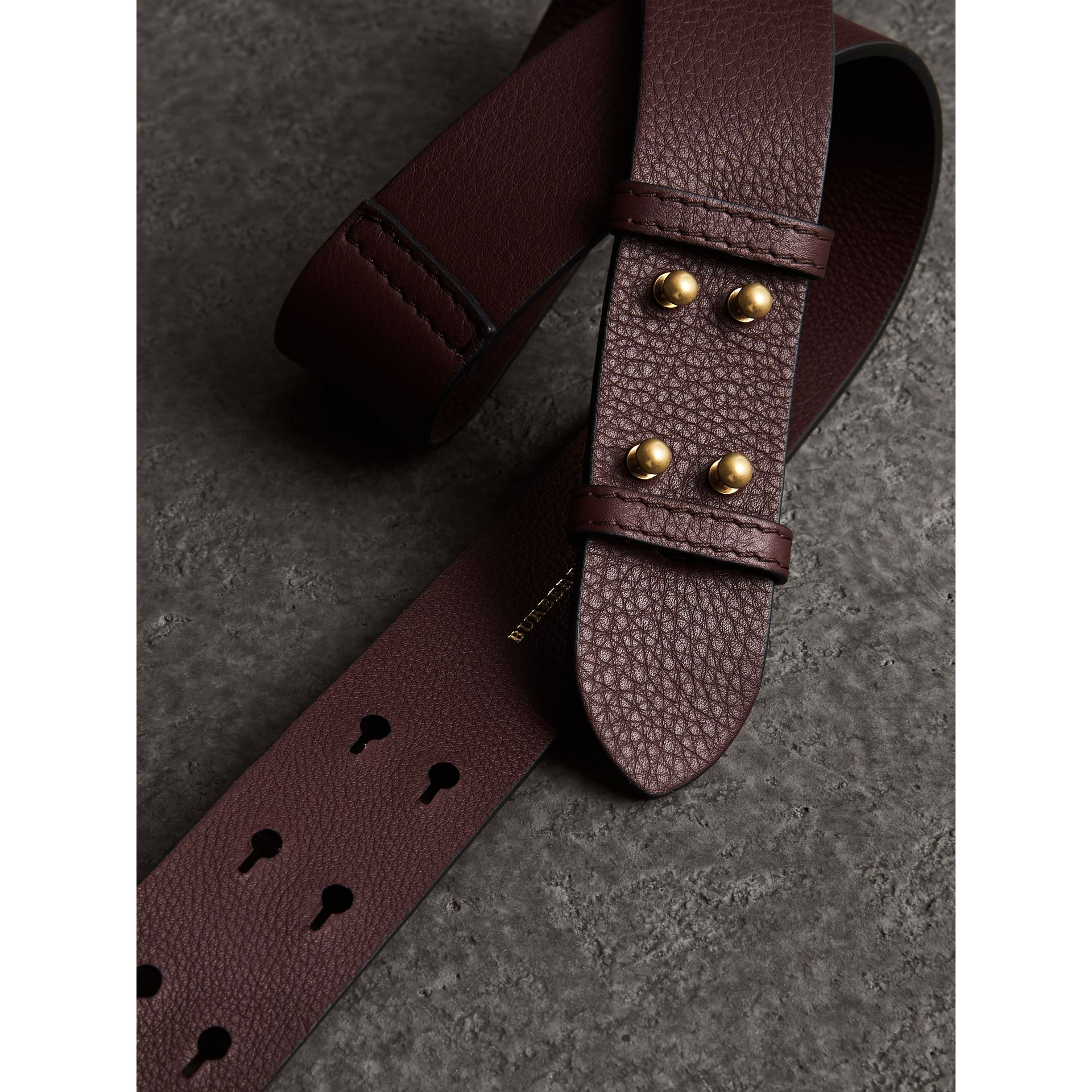 The Small Belt Bag Grainy Leather Belt in Deep Claret - Women | Burberry United Kingdom - gallery image 1