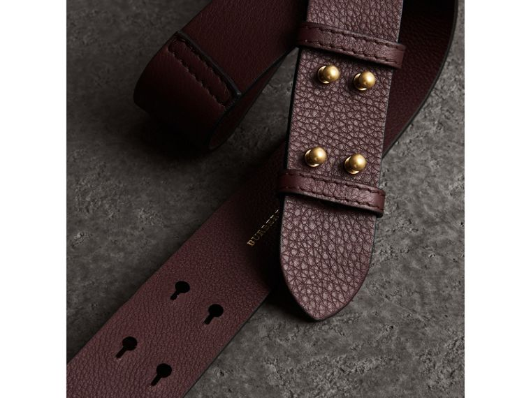 The Small Belt Bag Grainy Leather Belt in Deep Claret - Women | Burberry United States - cell image 1