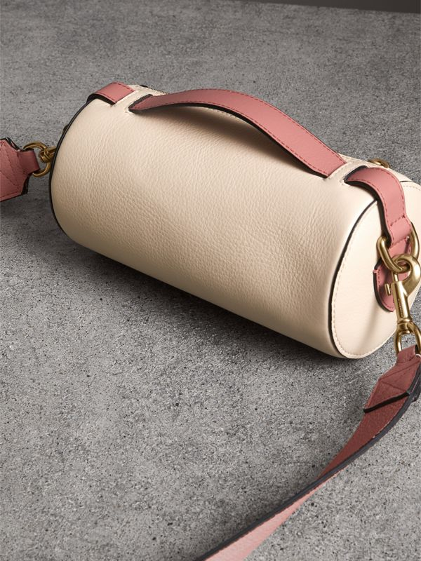 The Leather Barrel Bag in Limestone/dusty Rose - Women | Burberry United States - cell image 2