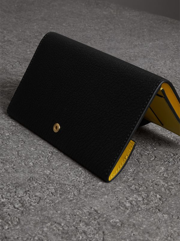 Equestrian Shield Two-tone Leather Continental Wallet in Black - Women | Burberry Canada - cell image 2