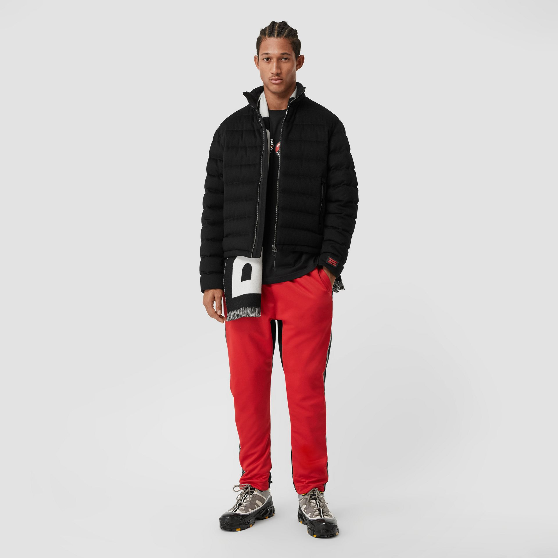 Lightweight Cashmere Puffer Jacket in Black - Men | Burberry United Kingdom - gallery image 0