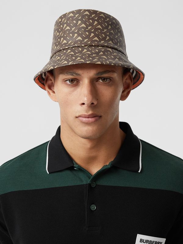 Monogram Print Bucket Hat in Bridle Brown | Burberry United Kingdom - cell image 3