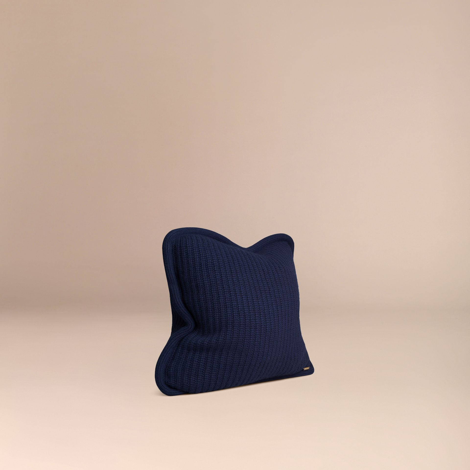 Navy Knitted Cashmere Cushion Cover Navy - gallery image 3