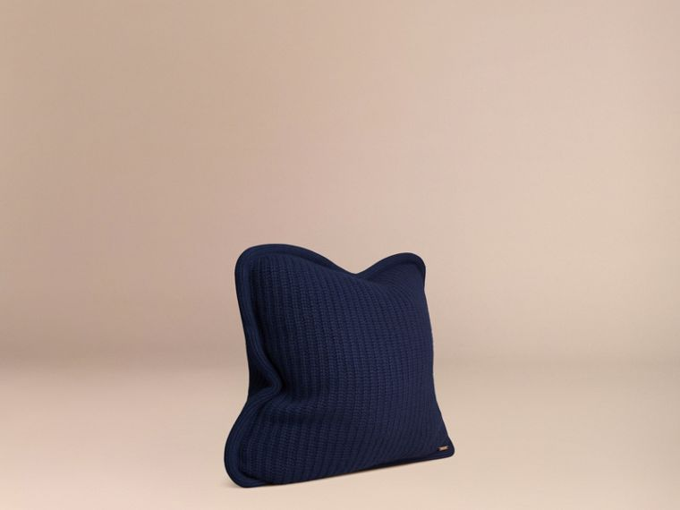 Navy Knitted Cashmere Cushion Cover Navy - cell image 2