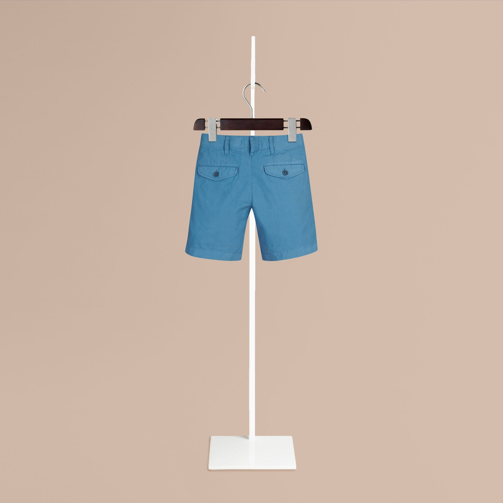Lupin blue Cotton Chino Shorts - gallery image 2