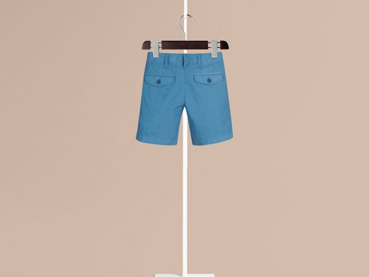 Lupin blue Cotton Chino Shorts - cell image 1