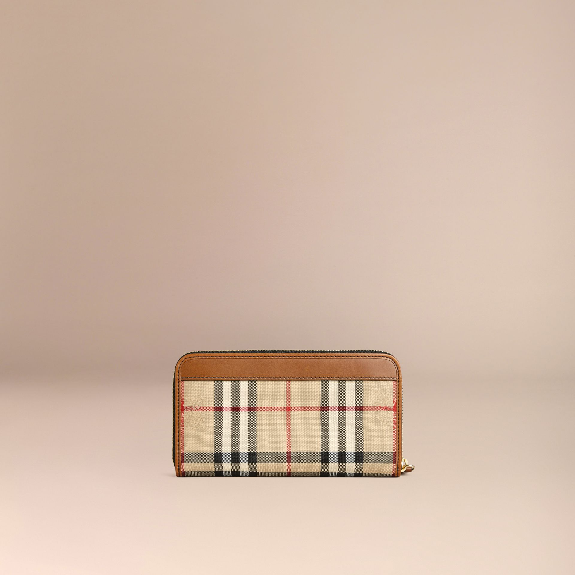 Horseferry Check Ziparound Wallet Tan - gallery image 4