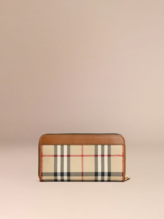 Horseferry Check Ziparound Wallet Tan - cell image 3